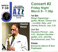 2018/03/09 38th Sarasota Jazz Festival @ Riverview PAC Friday