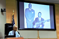 Alfred with slide of his Dad & Count Basie